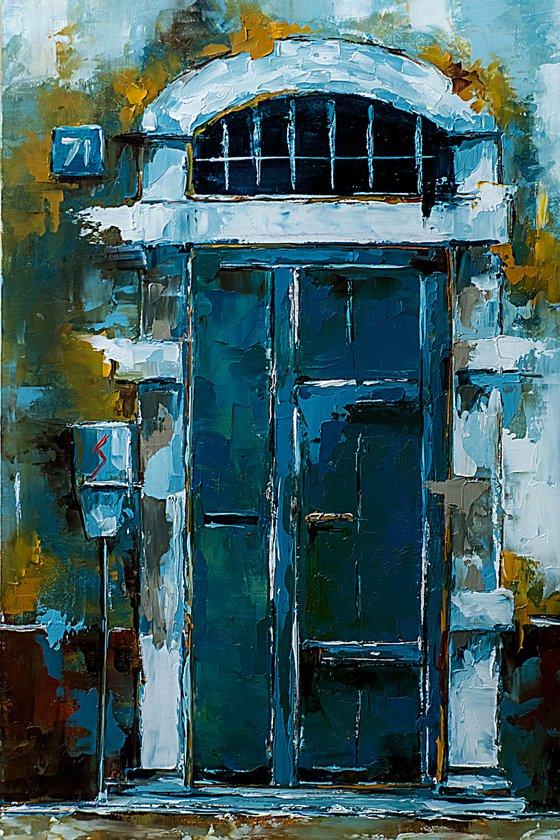 Door on old house. Gift idea