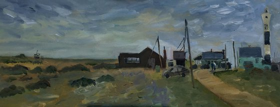 Morning light at Dungeness An original Oil Painting