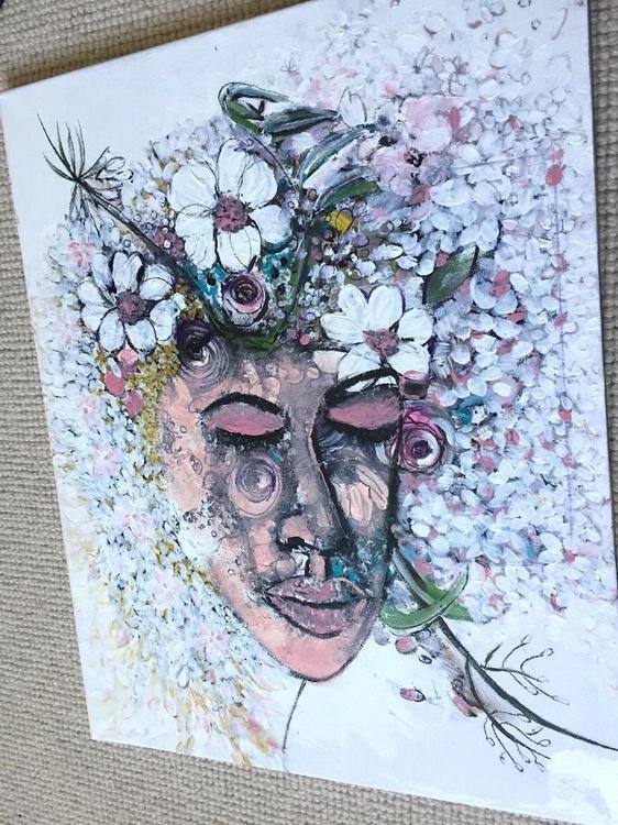 paintings unique art artwork Original art art portrait painting flowers