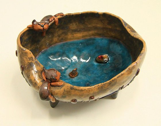 Ceramic | Bowl with cats