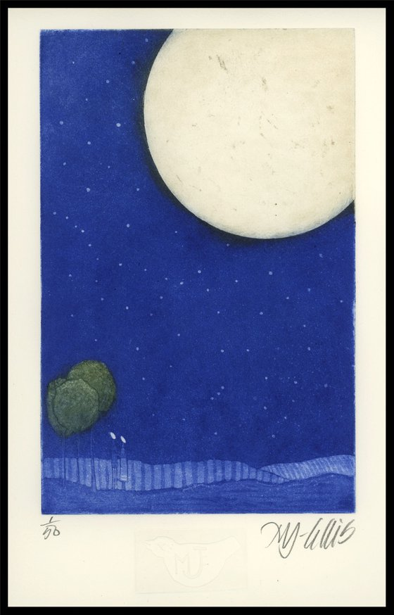 Lovers Moon, aquatint etching
