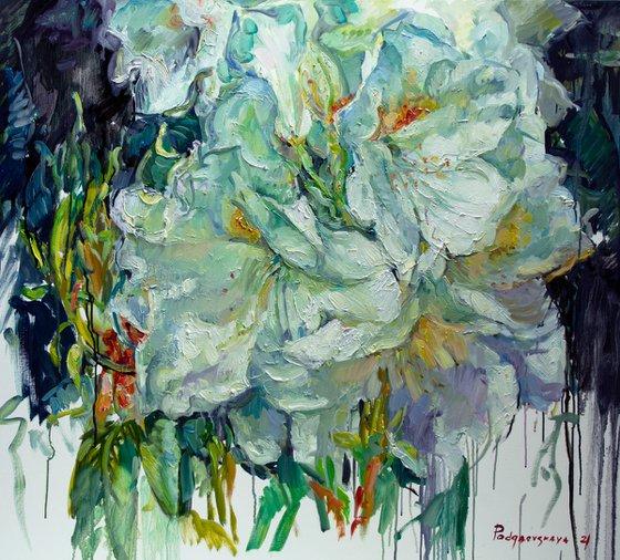 White summer flowers.