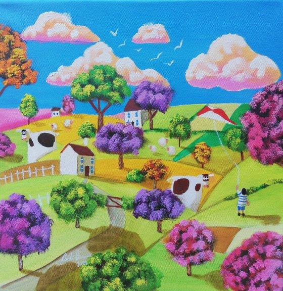 Naive art Canvas painting