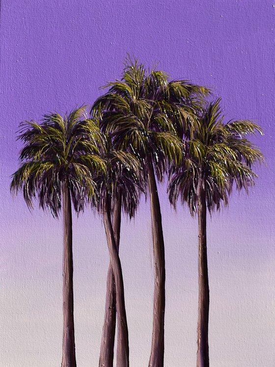 Purple Summer 40 x 30 cm, Ready to Hang