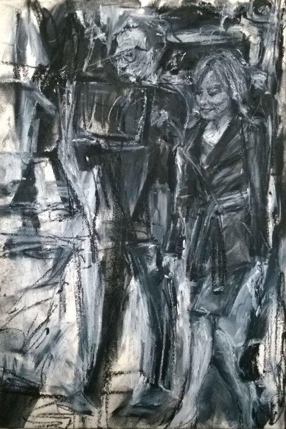 Street scene woman