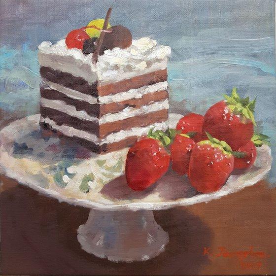 Cake & Strawberry 2