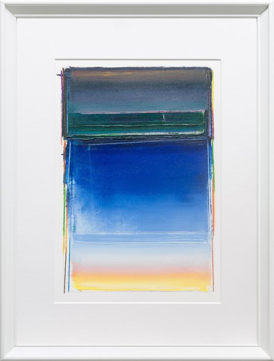 Modern Abstract Oil Painting, BREATHE- A#06, 30x40cm, Framed and Ready to Hang