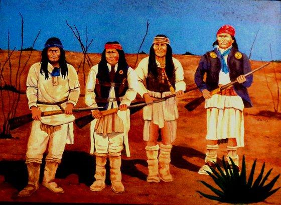 Geronimo & warriors