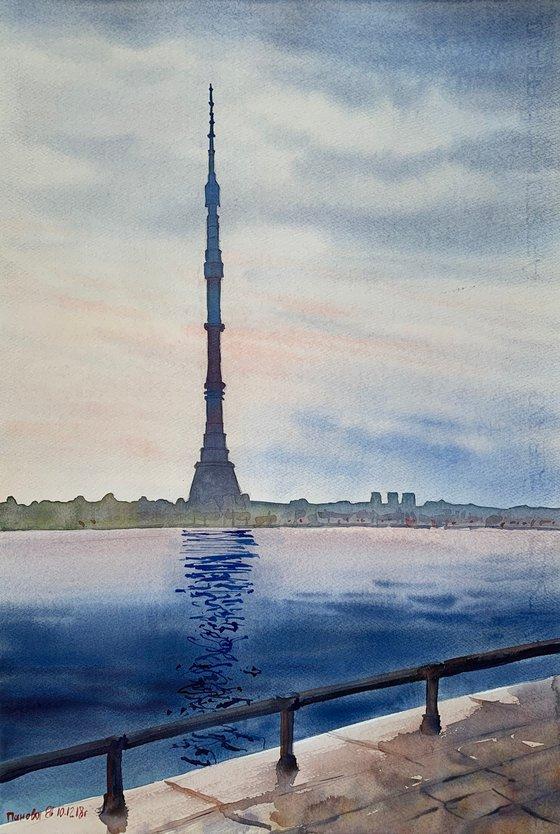 Ostankino. Tower. Moscow.
