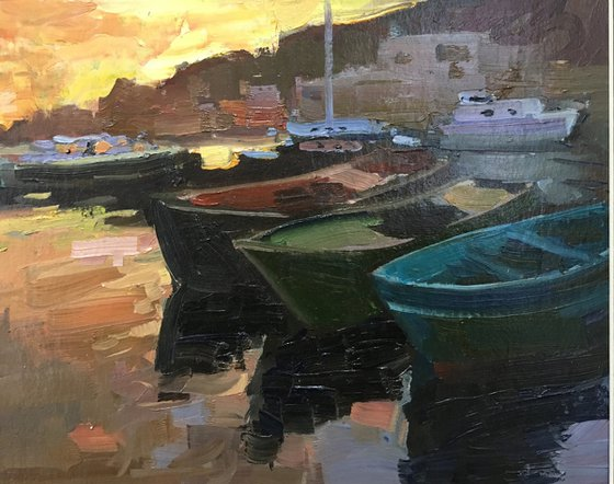Evening boats