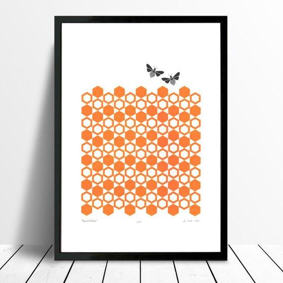 Bumblebees - Framed - FREE UK Delivery