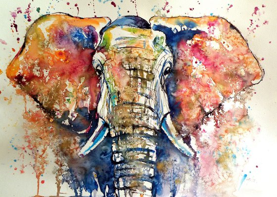 Elephant (70 x 50 cm)