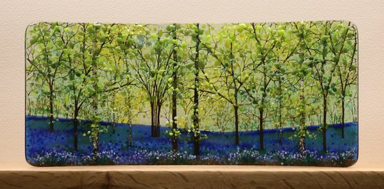 Glass Half Curve of Bluebells (Made to Order)