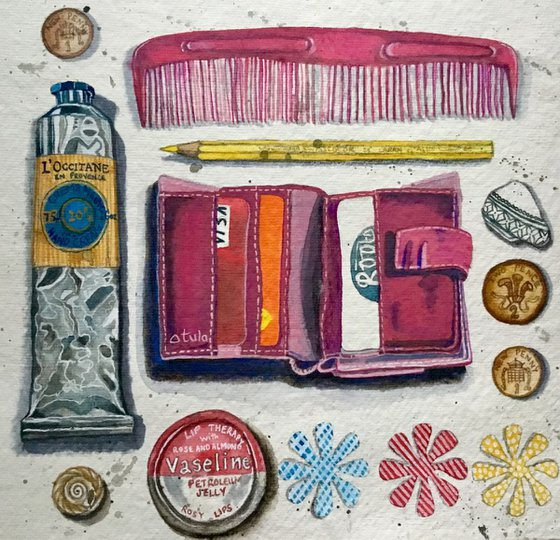 Still life Painting, What's in my Bag