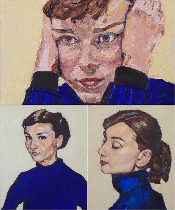 Audrey Hepburn Triptych