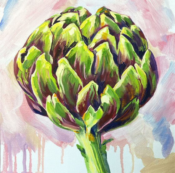 Artichoke №1 / Expressive oil painting / Artichokes / Impasto painting