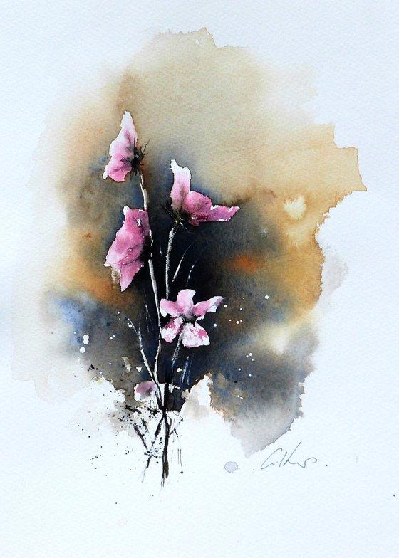 Flowers. Original watercolour painting.