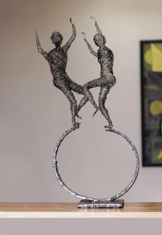 ''Yarkhushta'' Dance (53x30x24 2.2kg iron)