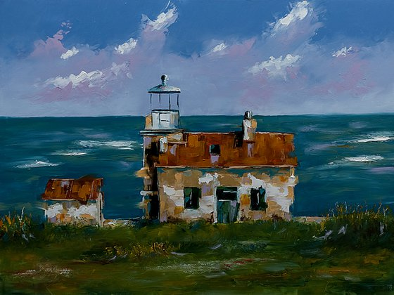 Lighthouse Marlera in Croatia. Adriatic sea, Croatian coast