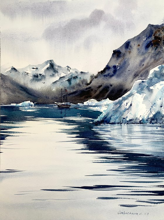 A ship off the arctic coast #2