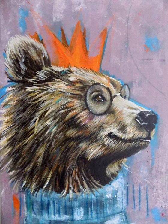 Bear painting called 'Birthday Bear'