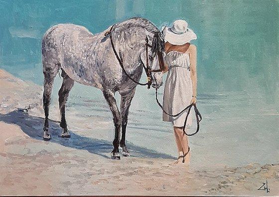 Дама с конём