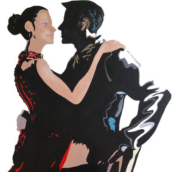 Tango dancers, modern ballroom dance couple