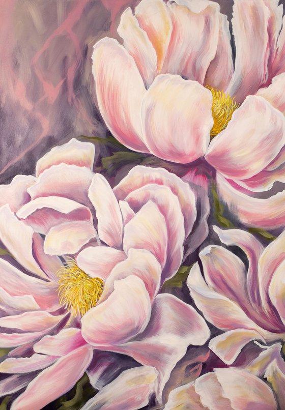 Breath of beauty / Original oil painting with peonies / peonies painting