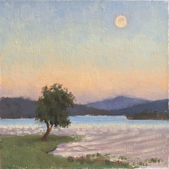 Hagg Lake moonrise