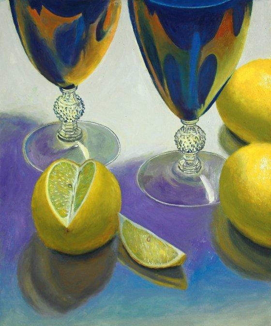 Blue Glasses and Lemons
