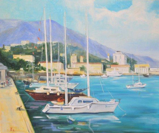 Boats near the bay