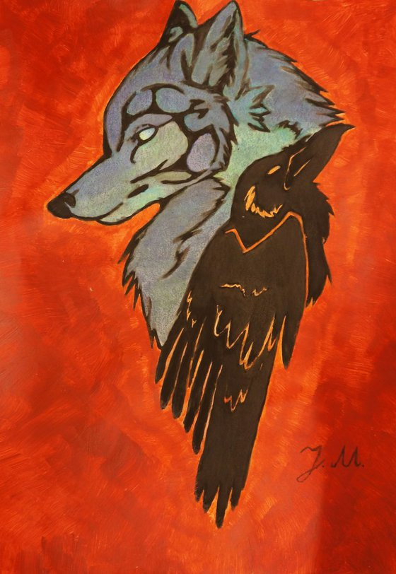 Painting | Acrylic | Wolf