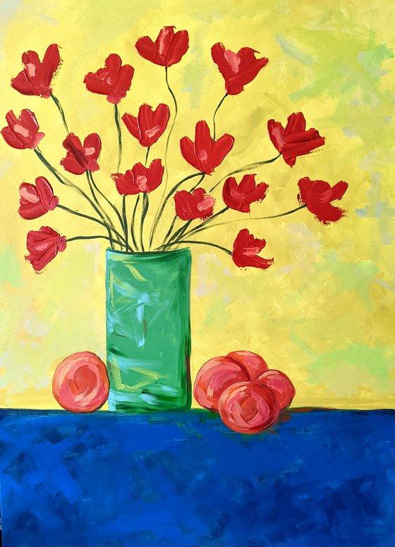 Poppies & Five Oranges