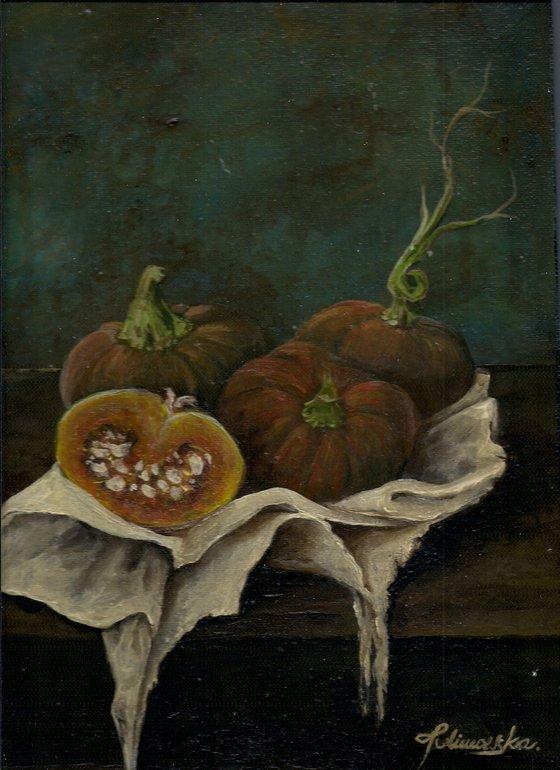 Still life with a pumpkins