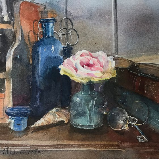 Rose in a Dusty Corner
