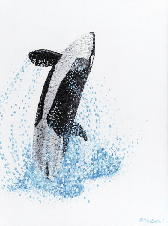 """Orca Oil Painting """"Exhilaration"""""""