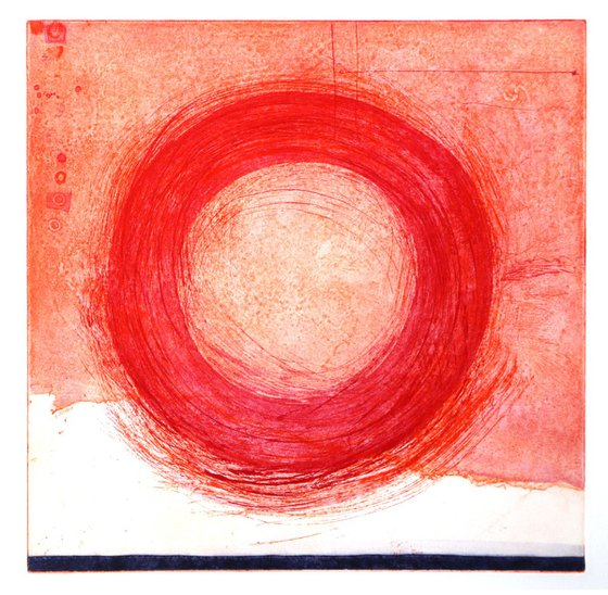 """Heike Roesel """"Loop"""" (colour composition 7) fine art etching in edition of 5"""