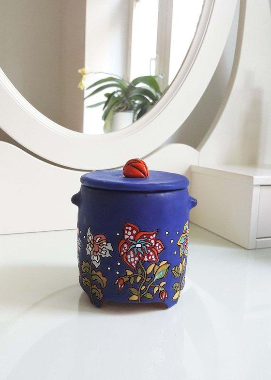 Ceramic   Box   Blue velvet
