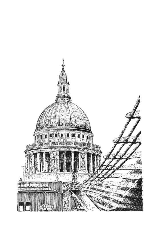St Paul's Cathedral & Millenium Bridge