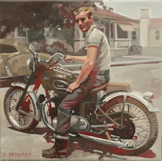""""""" Jeune homme à la moto """""""