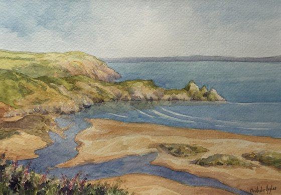 The Gower Coast.Three Cliffs.