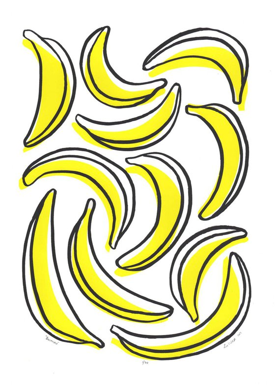 Bananas - Unframed - FREE Worldwide Delivery