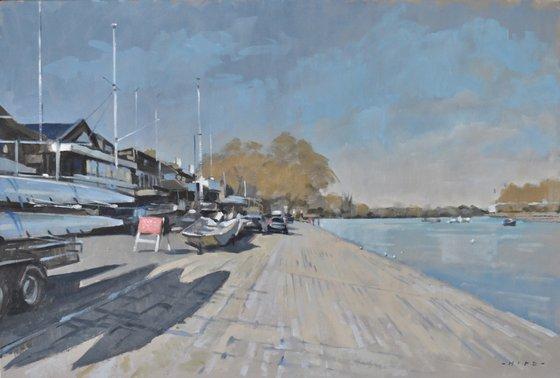 Rowing Clubs, Putney riverside