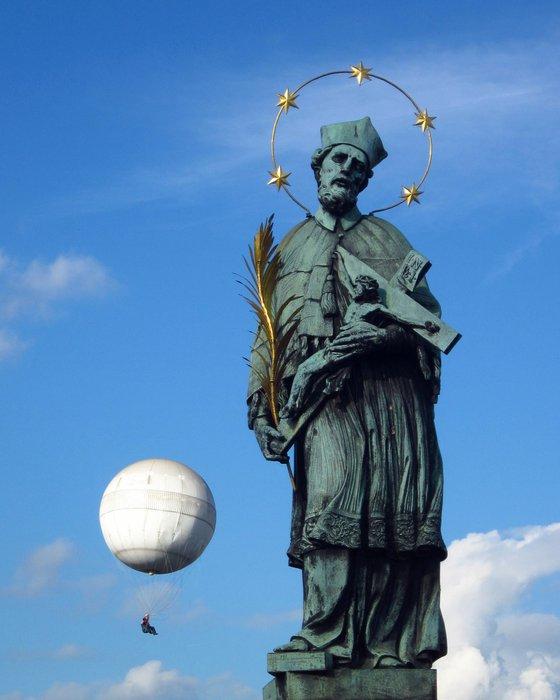 The Pilgrimage, old statue in Prague