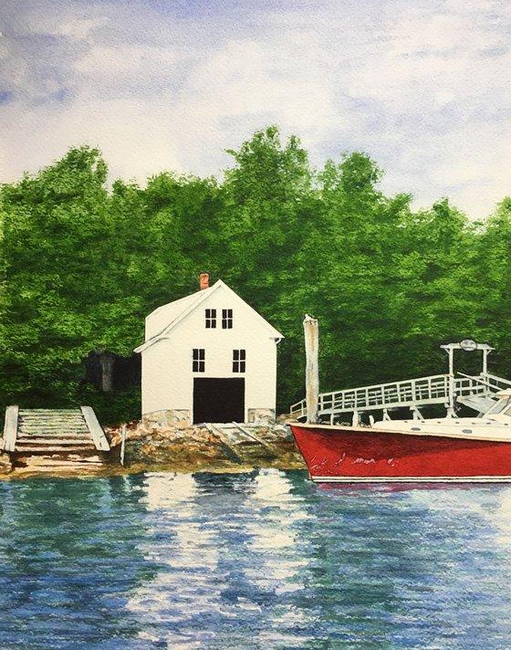 Boathouse in Pemaquid Harbor