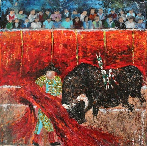 Corrida (Fiesta Series) Spanish bullfight-Ready to Hang