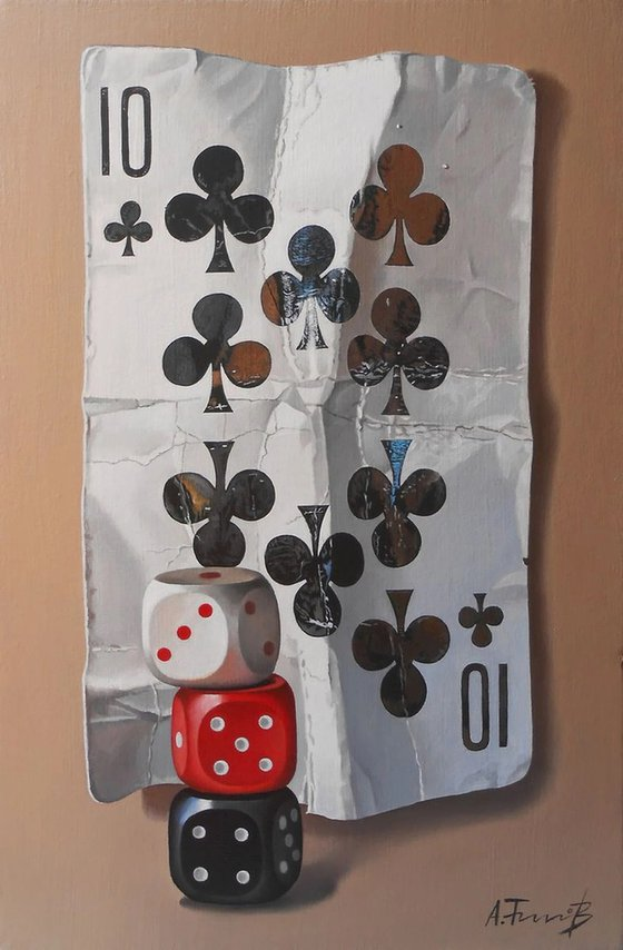 Card and Dice, Still Life