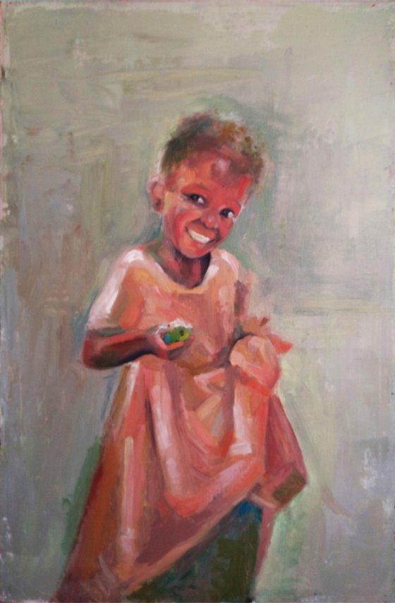 Black lives matter 40x60cm ,oil/canvas, impressionistic portrait