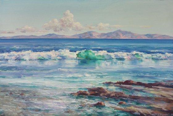 Sea waves(60x90cm, oil painting)