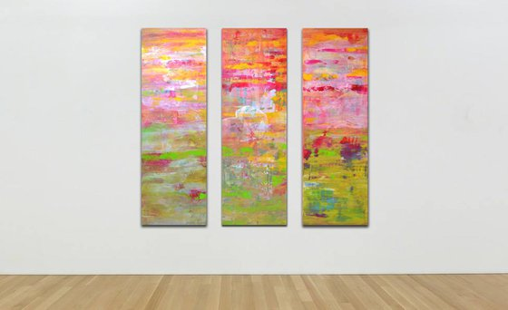 Pink horizon - Triptych